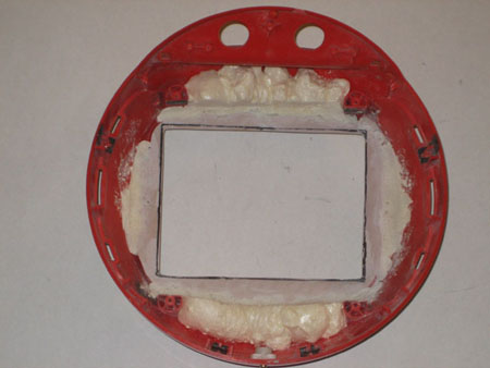 Computersphere bezel after sanding and trimming