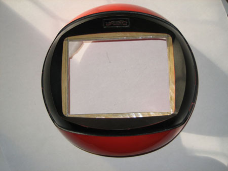 Front of Videosphere with cardboard in place