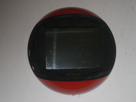 LCD screen glued into place, front of Videosphere