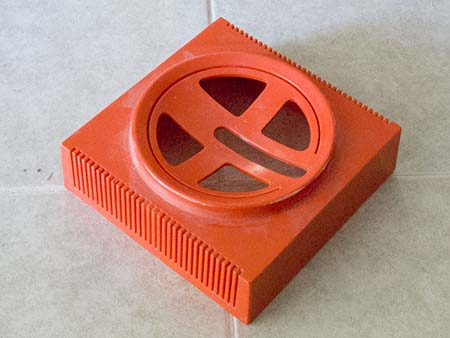 The original Videosphere base after polishing