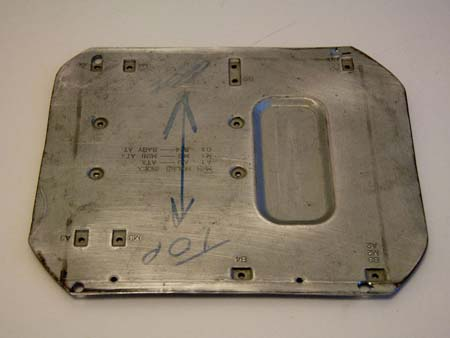A mounting plate from an old case