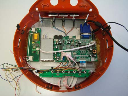 The LCD TVs PCB with VGA a power attached