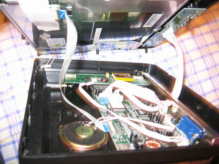 Removing the LCD from the plastic housing
