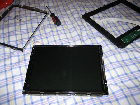 Removing the metal housing from the LCD