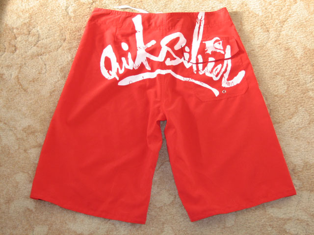 Actual photo of back of fake shorts once received.