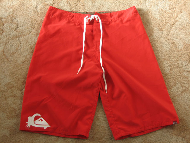 Actual photo of fake shorts once received.