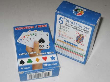 5 Dimension playing cards