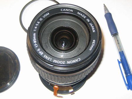 Font of 17-85mm lens