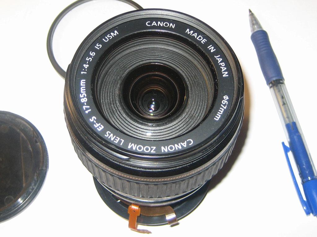 Font of 17-85mm lens