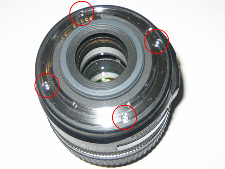 Metal lens screw lock