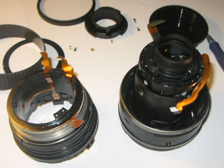 Outer casing removed from inner lens