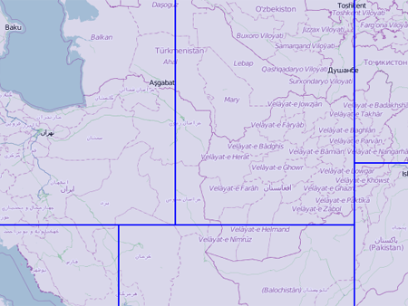 Central Asia free Garmin MapSource map