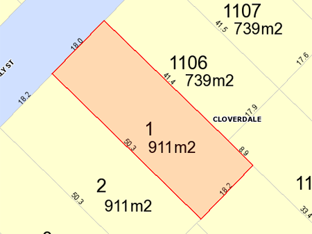 Cloverdale lot diagram and zoning