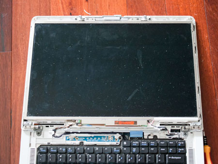 Once the LCD monitor bezel is removed