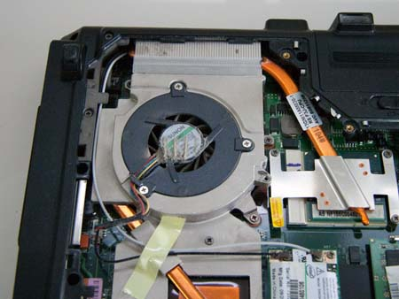 The existing fan, remove the three screws